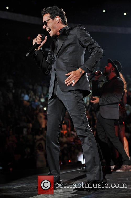 Marc Anthony performs at the American Airlines Arena...