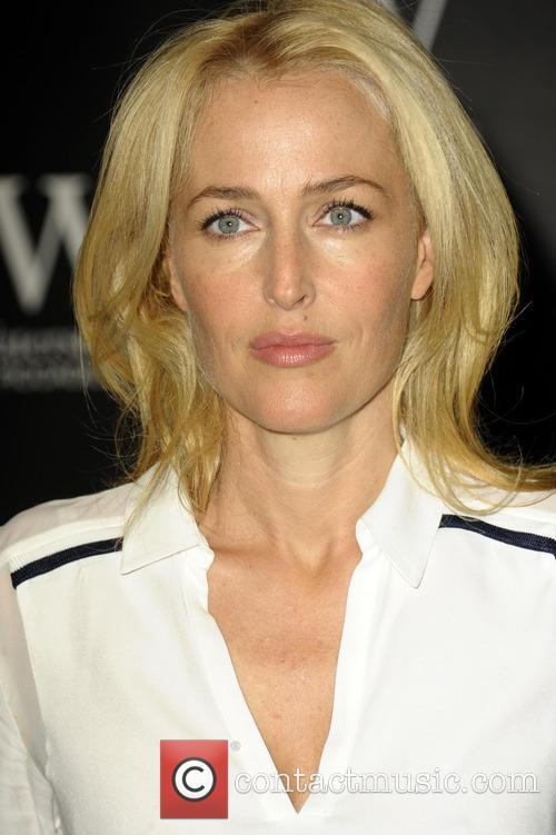 Gillian Anderson signs her book 'A Vision of...