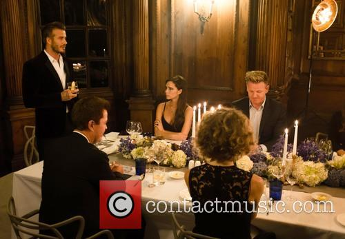 David Beckham, Victoria Beckham, Simon Fuller and Gordon Ramsay 4