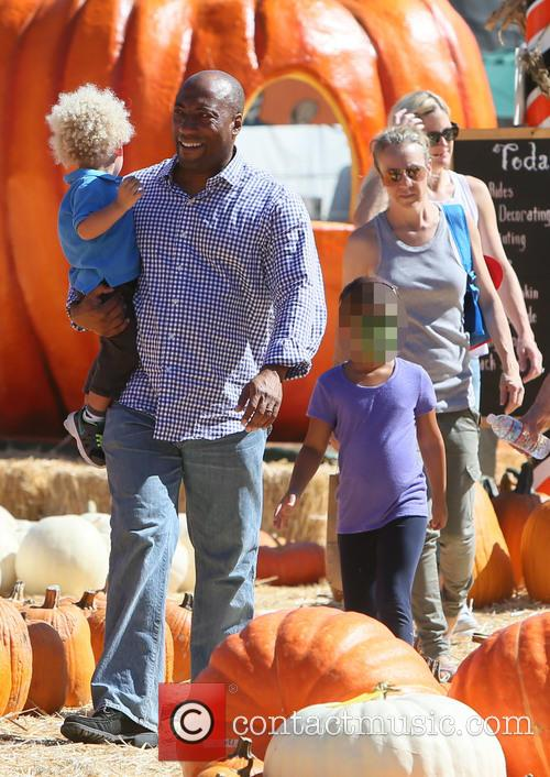 Byron Allen and family at Mr Bones Pumpkin...