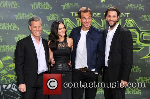 Andrew Form, Megan Fox, Will Arnett and Bradley Brad Fuller 2