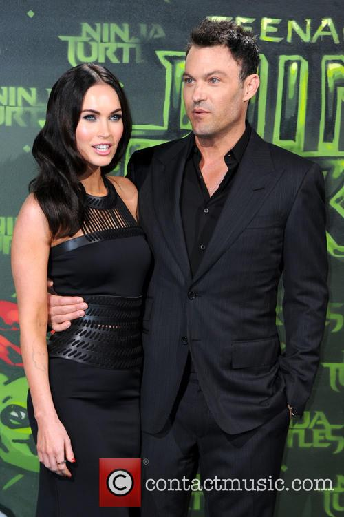 Megan Fox and Brian Austin Green at TMNT premiere