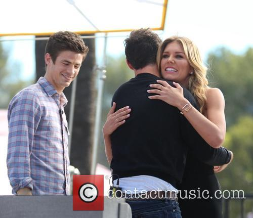 Tom Cavanagh, Grant Gustin and Charissa Thompson
