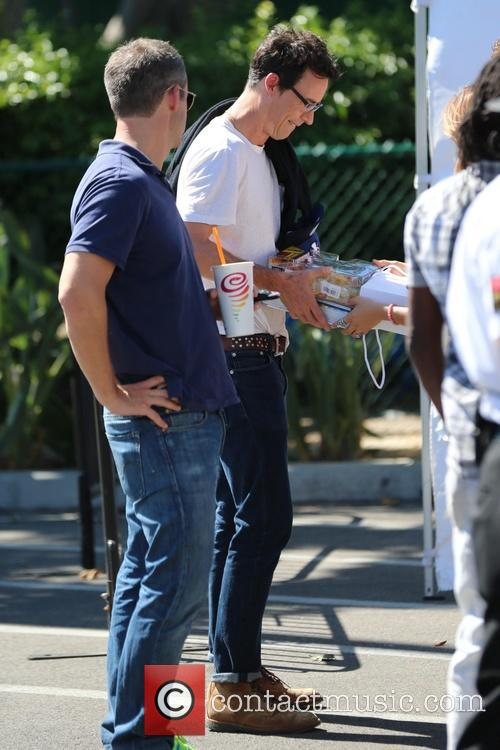Tom Cavanagh and Grant Gustin from 'The Flash'...