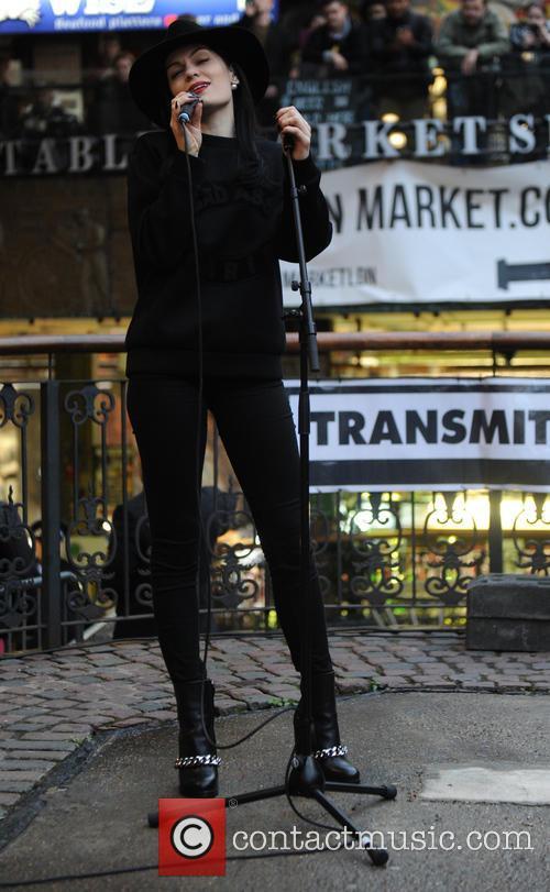 Jessie J at Busking in Camden Market