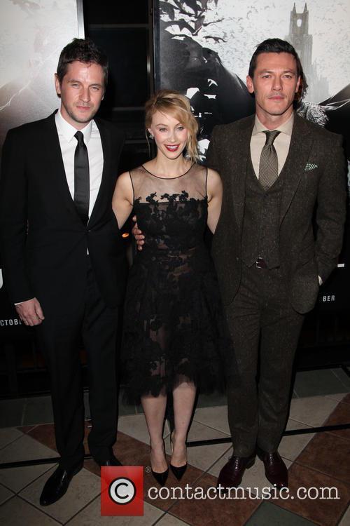 (l-r) Director, Gary Shore, Sarah Gadon and Luke Evans 2