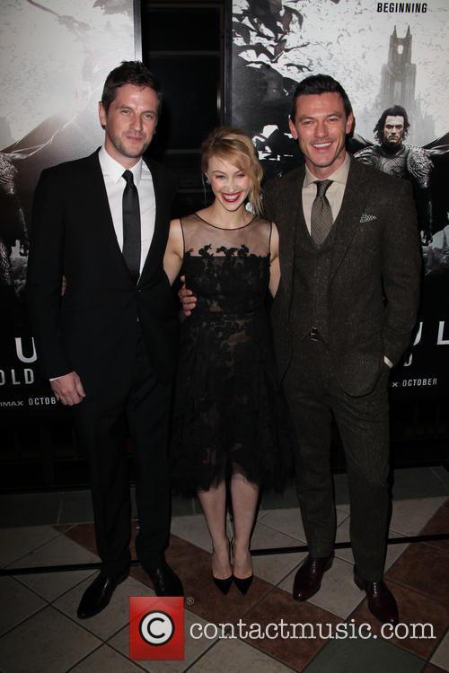 (l-r) Director, Gary Shore, Sarah Gadon and Luke Evans 1
