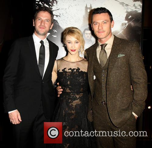 Gary Shore, Sarah Gadon and Luke Evans 2