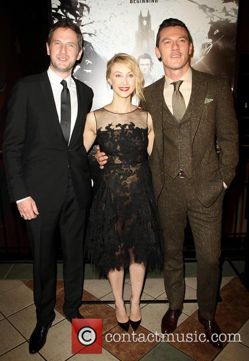 Gary Shore, Sarah Gadon and Luke Evans 1