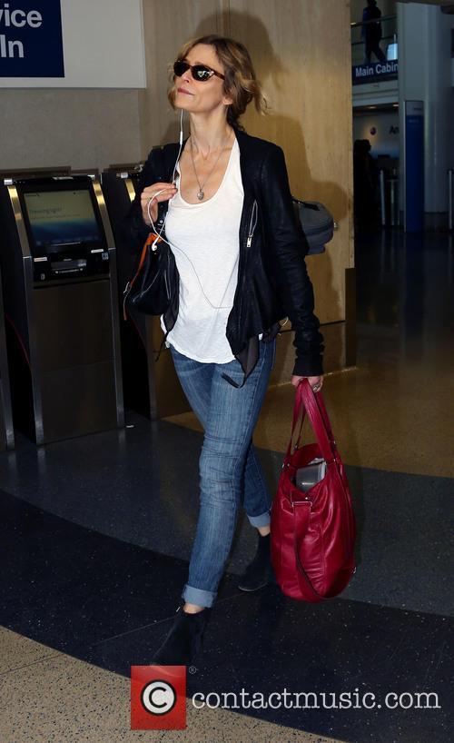 Kyra Sedgwick arrives at Los Angeles International Airport
