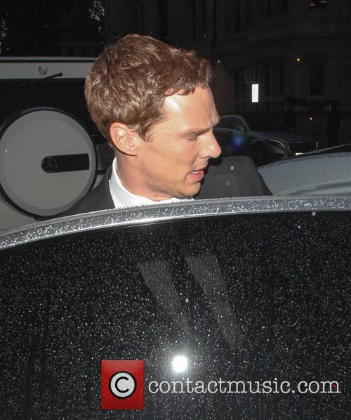 Benedict Cumberbatch leaving his hotel