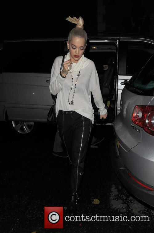 Rita Ora arriving home