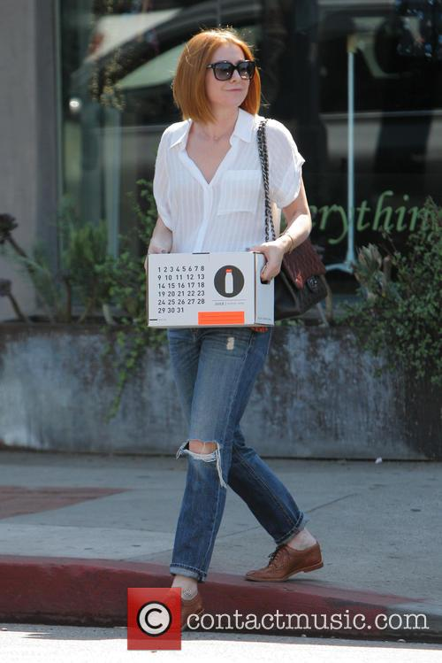 Alyson Hannigan was spotted shopping in West Hollywood,...