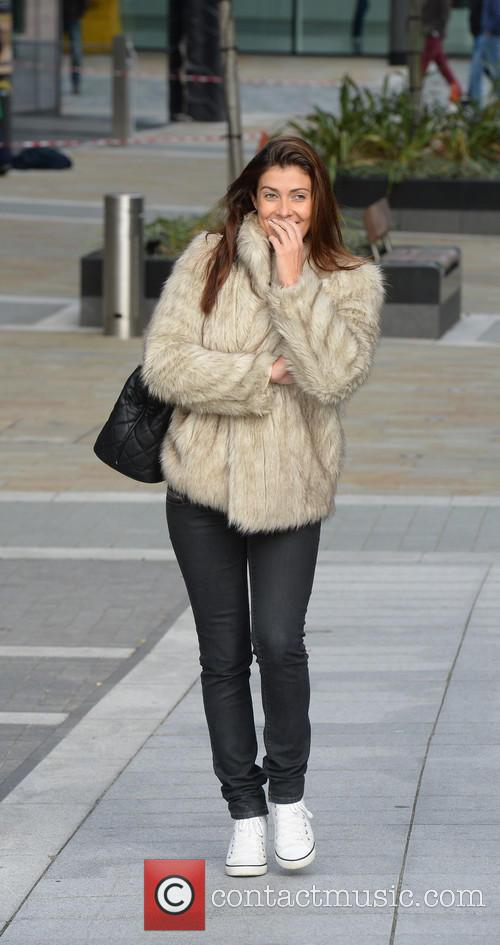 Kym Marsh spotted at Media City