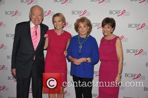 Leonard Lauder, Amy Robach, Barbara Walters and And Myra Biblowit 5