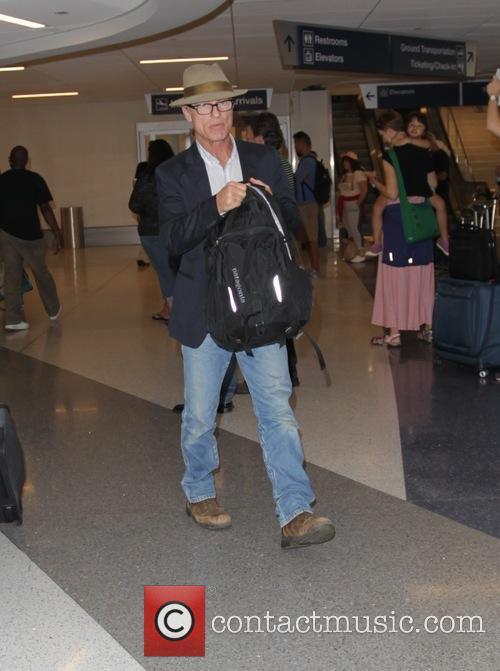 Ed Harris arrives at Los Angeles International Airport