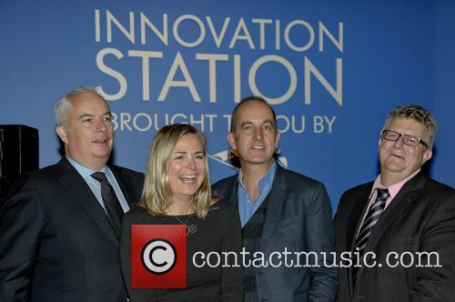 Laurence Vaughan (ceo Anglian Home Improvements) Phillippa Forrester, Kevin Mccloud and Martin Troughton (marketing Director Anglian Home Improvements) 1