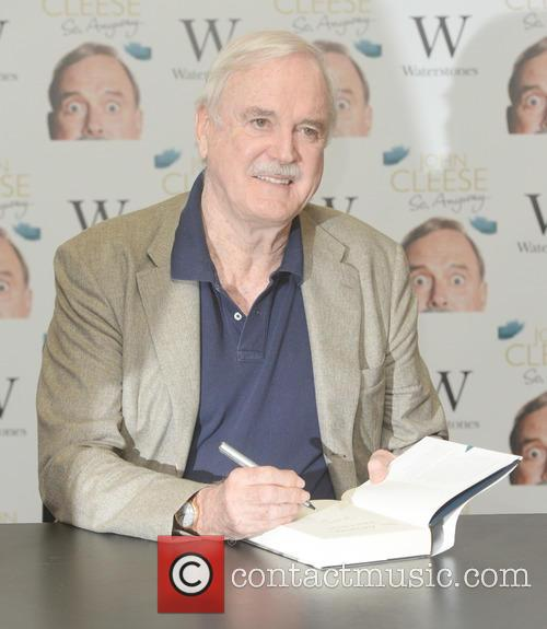 John Cleese signs copies of his book 'So...