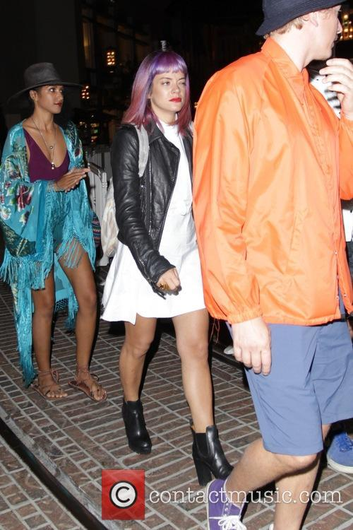 Lily Allen smokes before an event at The...