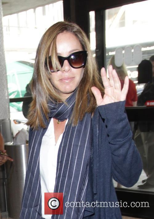 Melissa Rivers departs from Los Angeles International Airport...