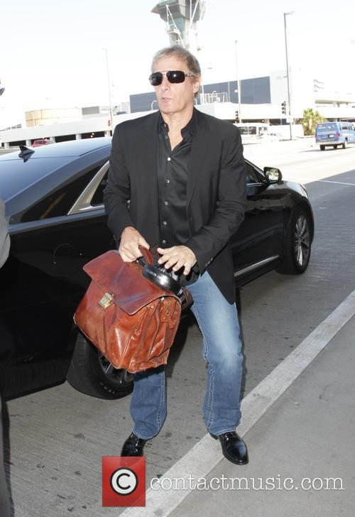 Michael Bolton departs from Los angeles International Airport