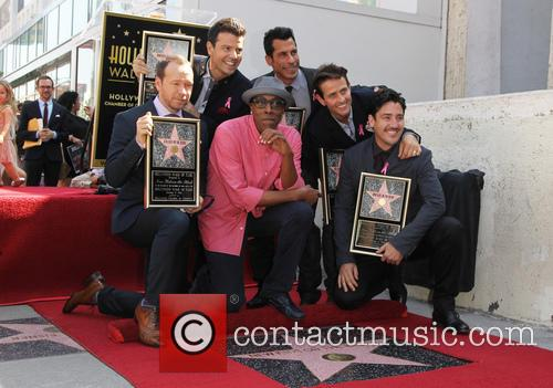 New Kids on the Block's star unveiling ceremony...