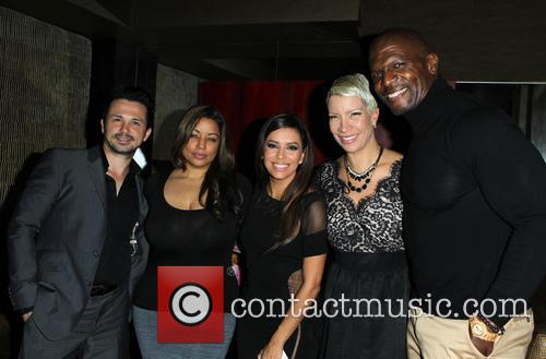 Freddy Rodriguez, Elsie Rodriguez, Eva Longoria, Rebecca King-crews and Terry Crews 2