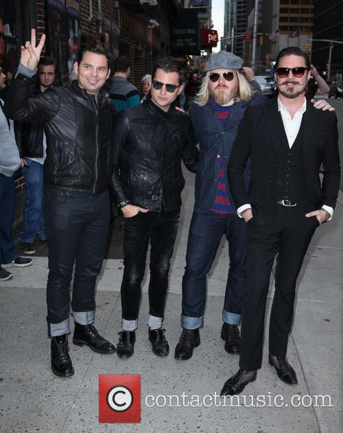 David Letterman, Rivalsons From L To R, Michael Miley, Jay Buchanan, Dave Beste and Scott Holiday 2