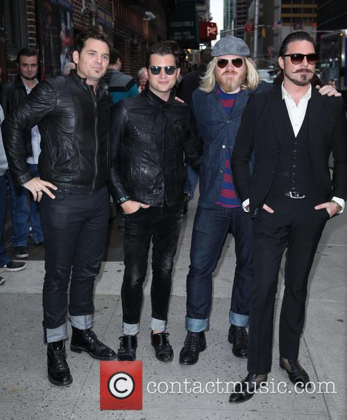 David Letterman, Rivalsons From L To R, Michael Miley, Jay Buchanan, Dave Beste and Scott Holiday 3