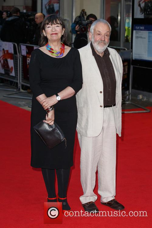 Marion Bailey and Mike Leigh 1