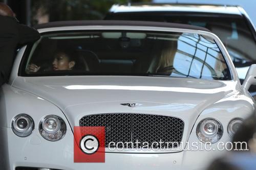 Jennifer Lopez leaves the Beverly Wilshire Hotel