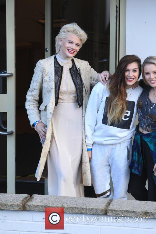 'X Factor' finalists at the rehearsal studio