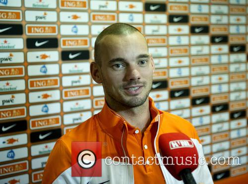 Dutch soccer player Wesley Sneijder