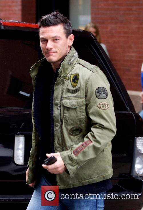 Luke Evans out and about in New York...