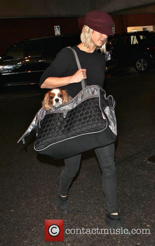 Julianne Hough arrives at Los Angeles International (LAX)...