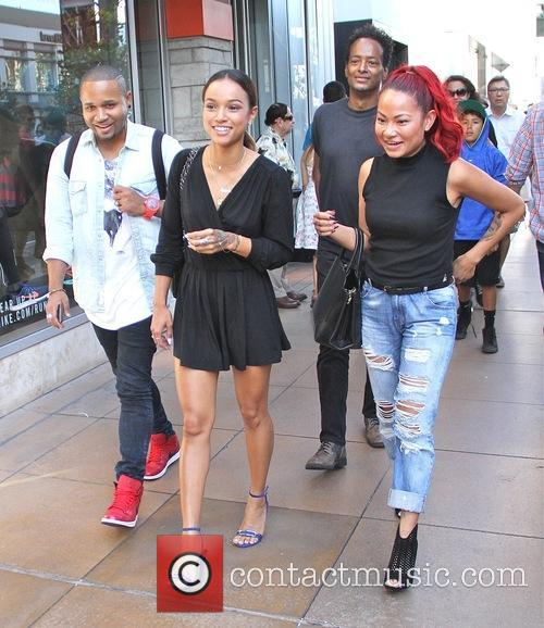 Karrueche Tran shops with friends at The Grove