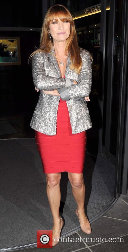 Jane Seymour leaves the RTE studios