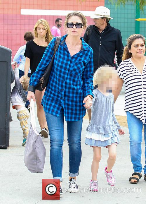 Rebecca Gayheart takes her daughter to a soccer...