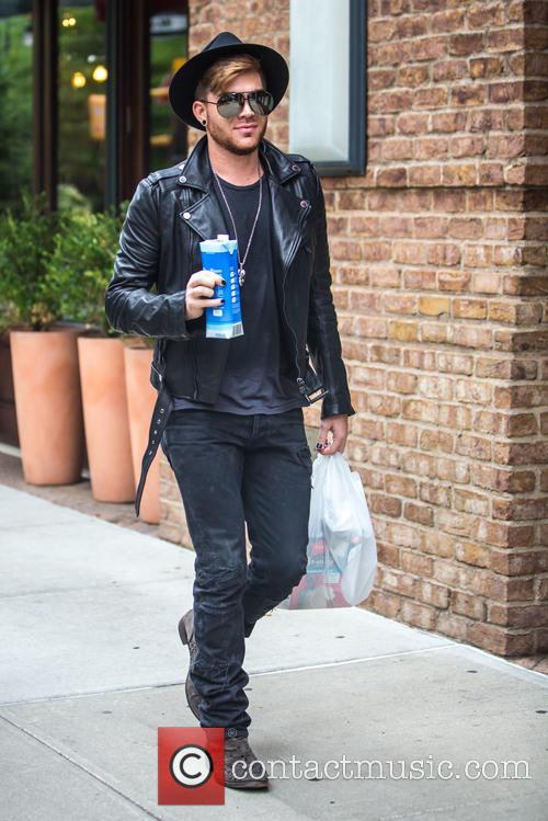 Adam Lambert seen strolling around Tribeca