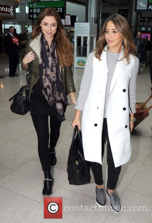 Una Foden and Rachel Stevens arriving at Dublin...