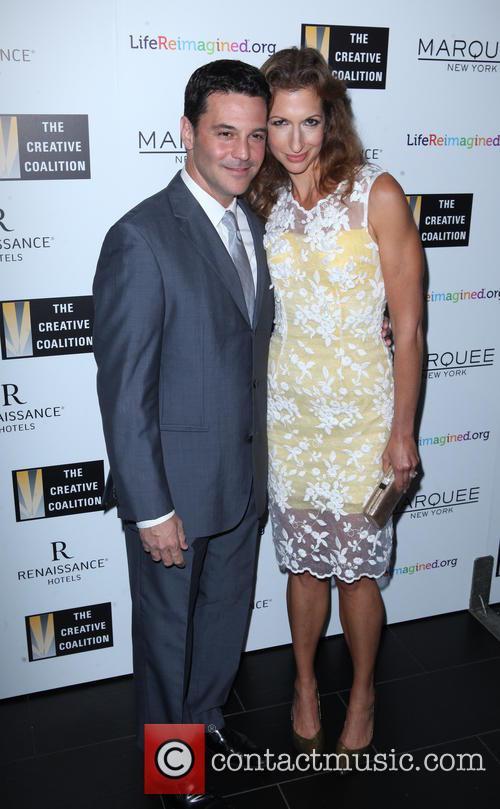 David Alan Basche and Alysia Reiner