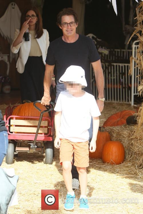 Kyle MacLachlan at a pumpkin patch
