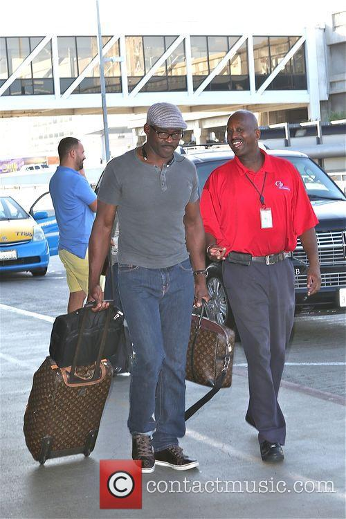 Michael Irvin at Los Angeles International Airport