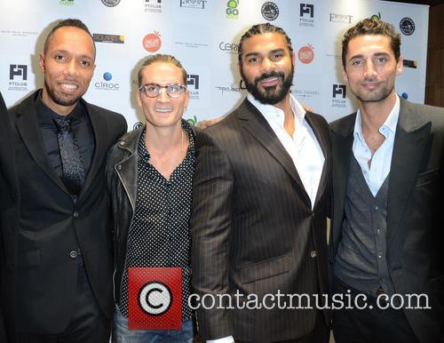 Ruben Tabares, Oliver Proudlock, David Haye and Hugo Taylor 6