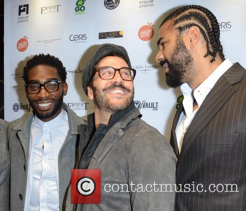 Tinie Tempah, Jeremy Piven and David Haye 2