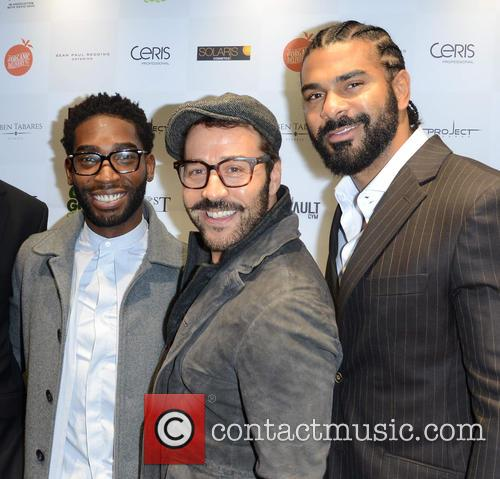 Tinie Tempah, Jeremy Piven and David Haye 7