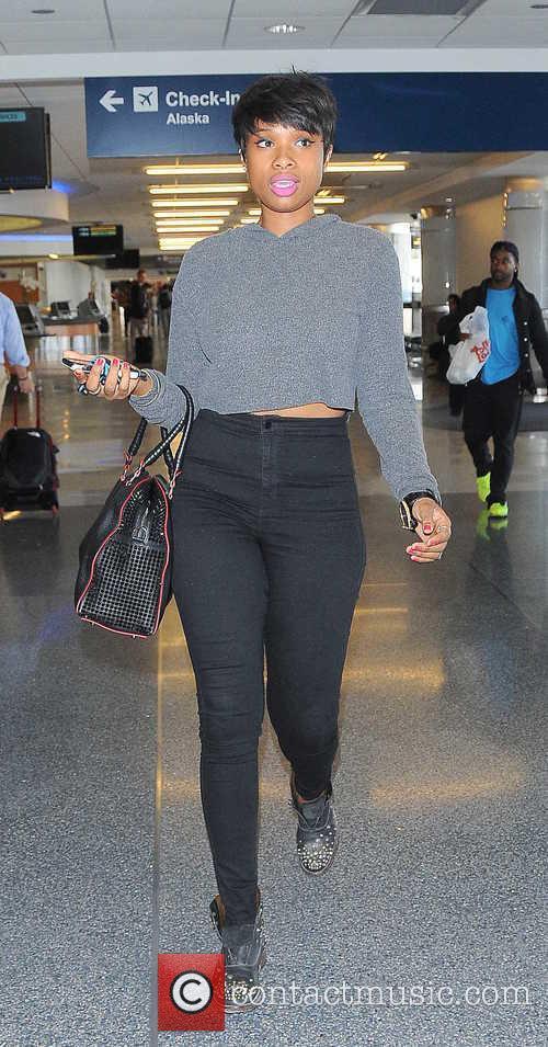 Jennifer Hudson arrives at Los Angeles International Airport...