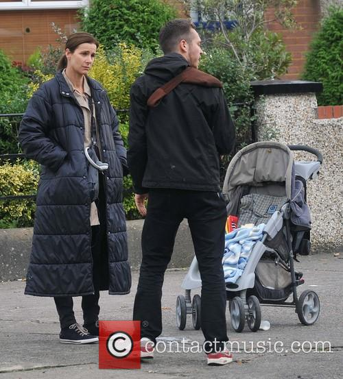 Rachel Griffiths filming scenes for her new movie...