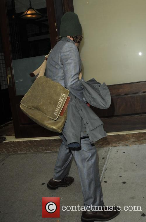 Zach Galifianakis leaves a hotel in New York