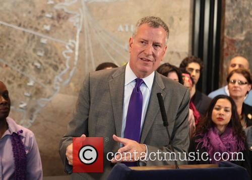 City Officials light The Empire State Building Purple...
